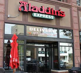Aladdin's in downtown Lansing
